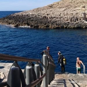 マルタでダイビング