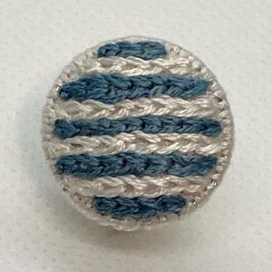 チェーンステッチのイヤリングを作りました