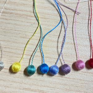 刺繍ボールをたくさん作りました
