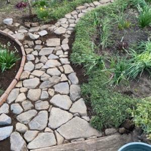 石畳の補修