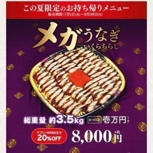 メガうなぎ3.5kg 1万円を購入!