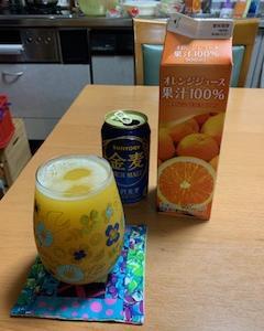 オレンジジュース割り♡