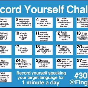 HelloTalkで30 Day Challengeを始めた