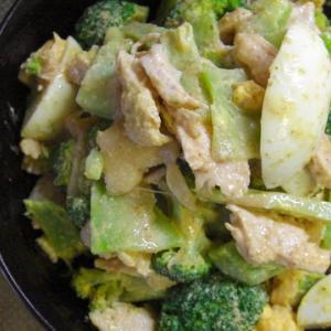 【ESSE10月号、鶏むね肉とブロッコリーとゆで卵サラダ。】