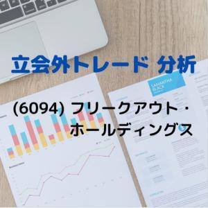 【立会外トレードの分析】6094 フリークアウト・ホールディングス