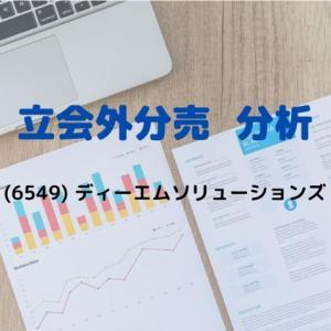 【立会外分売分析】6549 ディーエムソリューションズ