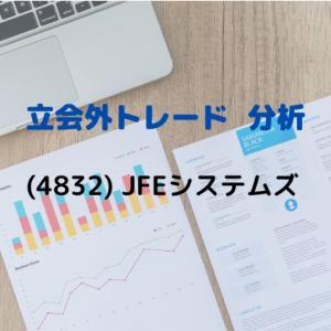 【立会外トレード分析】4832 JFEシステムズ