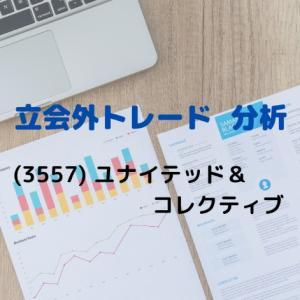 【立会外トレード分析】3557 ユナイテッド&コレクティブ