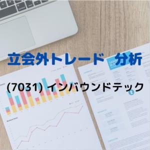 【立会外トレード分析】7031 インバウンドテック