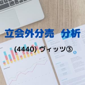 【立会外分売分析】4440 ヴィッツ③