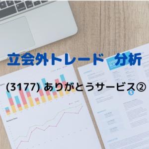 【立会外トレード分析】3177 ありがとうサービス②
