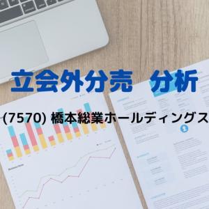 【立会外分売分析】7570 橋本総業ホールディングス