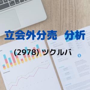 【立会外分売分析】2978 ツクルバ