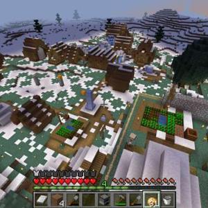 【マイクラ】村から離れて畑と牧場を作る