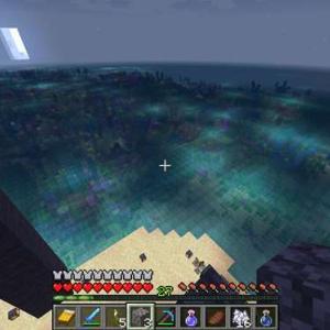 【マイクラ】釣りと水中の湧き潰し