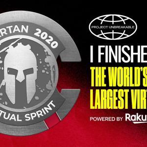スパルタンバーチャルレースのバーチャルメダル獲得でトライフェクタ達成です