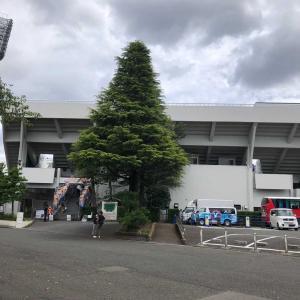 ニッパツ三ツ沢球技場までランしてサッカー見てまたランで帰ってたら鶴見川と矢上川の合流点で二階堂ふみさん見た。