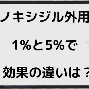 ミノキシジル外用液は1%と5%どちらがいいのか?(リアップ、ミノキサン、メディカルアップetc)