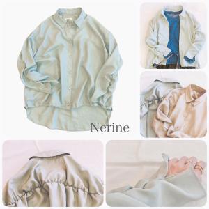 Nerine blouse アウターにも使える立体的なパターンのシャツです