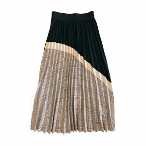 eleven glen check pleats skirt