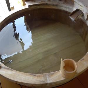 露天風呂付き客室の温泉に行ったときの動画