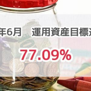 【運用実績2021年6月末時点】目標進捗率77.09%