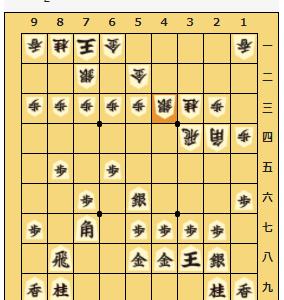将棋クエスト初段の将棋日記 相振り飛車(美濃囲いVS金無双)