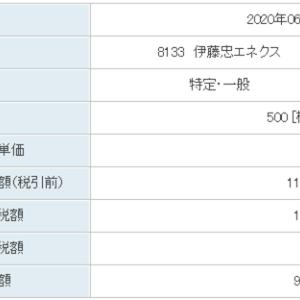 伊藤忠エネクス(8133)・オリックス(8591)配当金(2020年6月18日)