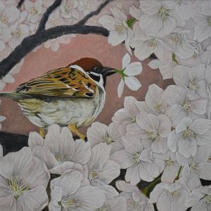 改訂版「桜に雀」