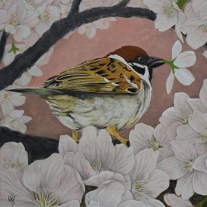 日本画「桜花桜図」改訂版