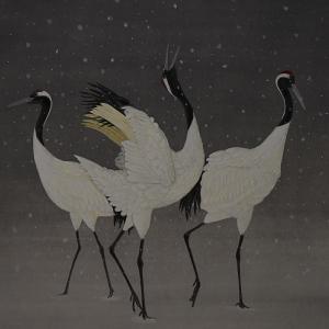 日本画「丹頂鶴」