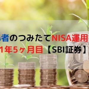 投資初心者のつみたてNISA運用益公開!1年5ヶ月目【SBI証券】