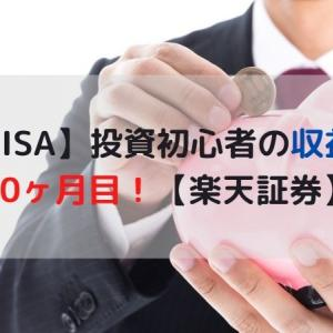 【積立NISA】投資初心者の収益公開 10ヶ月目!【楽天証券】