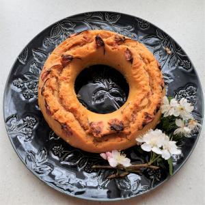 米粉でもちもち、春のまんまる桜ケーキ