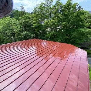 青森市T様邸の屋根塗装が完了しました。