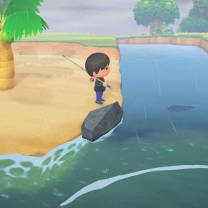 【Switch】「あつ森」3月のレア魚「チョウザメ」を釣り忘れてたので、時を戻る。