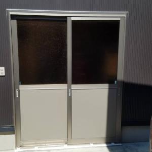 車庫のドア改修工事 その後