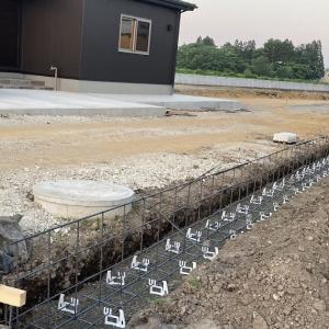 塀の設置工事