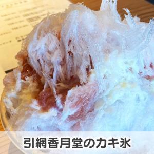 【引網香月堂のかき氷】和菓子屋のシロップが半端なく美味い!持ち帰り用を即購入☆