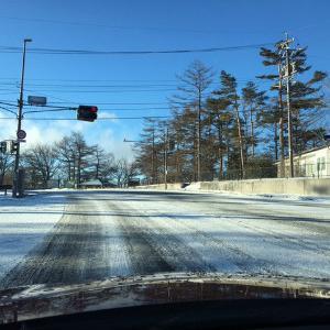 凍結道路で朝マックの励まし