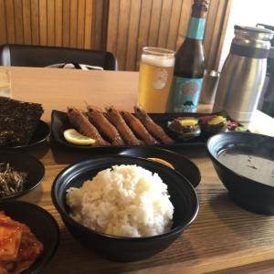 【済州島】あわびとエビのしょう油漬け定食【인생밥집】