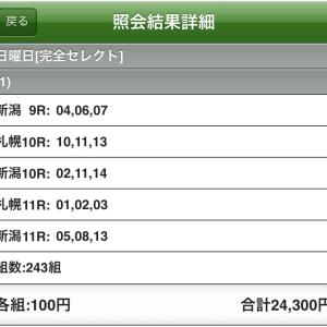WIN5の予想(7月26日)