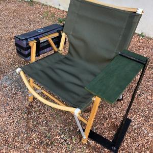 ソロキャンプ用にサイドテーブルが欲しい!アイアン+ウッドの「Fテーブル」がかっこいい!