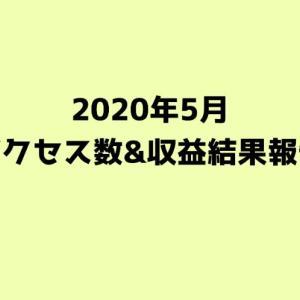 【2020年5月】ブログのアクセス数と収益発表【20ヶ月目】