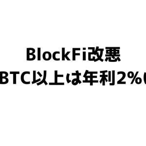 【改悪】BlockFiの利率が4月1日から引き下げへ