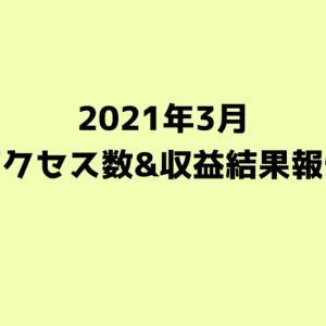 【2021年3月】ブログのアクセス数と収益発表【30ヶ月目】