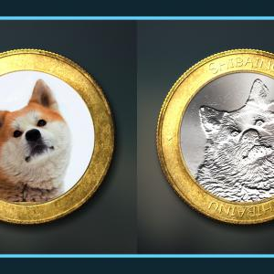 写真をコインのように加工できる無料PSDデザイン素材