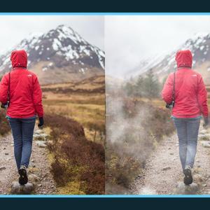 写真に20種類の霧を追加できる無料オーバーレイテクスチャ