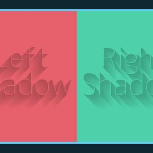 文字に長い影を追加できる無料PSDデザイン素材
