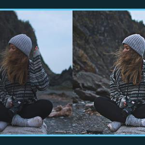 写真の輪郭をシャープにするフィルターを追加できる無料Photoshopアクション
